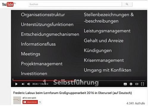 Frederic Laloux beim Lernforum Großgruppenarbeit 2016 in Oberursel